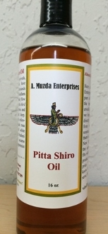 Pitta Shiro Oil available in a variety of sizes