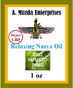 Super Relaxing Nasya Oil with 20 mg CBD —An Ayurvedic formula prepared in a base of organic sesame and olive oils.